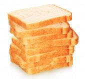 Skivor vitt bröd — Stockfoto