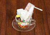 Cup with medicines — Stockfoto