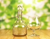 Glass bottle  and a glass — Stockfoto