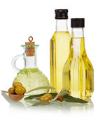 Olive oil flavored and  ingredients — Stock Photo