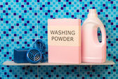 Washing powder and Hygiene cleanser — Stock Photo