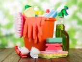 Hygiene cleanser in bottles — Stock Photo
