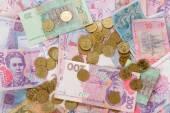 Ukrainian coins and money bills — Stock Photo