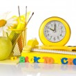 School accessories and apple — Stock Photo #64301027