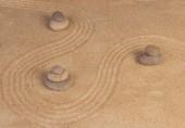 Mentalità Zen sulla sabbia — Foto Stock