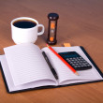 Notepad, pencil the calculator — Stock Photo #65256289