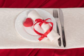The red heart on plate — Stock Photo