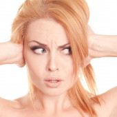 Beautiful  concerned adult woman face — Stock Photo