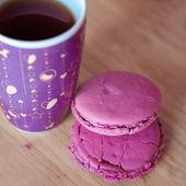 咖啡与杏仁饼干 — 图库照片