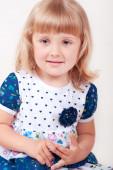 Adorable little baby girl — Stock Photo