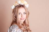 Beautiful blond woman face — Stock Photo