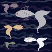 Conjunto de peixes — Vetorial Stock
