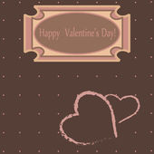 Lovely greeting card Valentine's day — Stock Vector