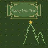Beautiful card Happy New Year — Stockvektor