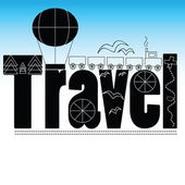 Decorative inscription about traveling — Stock Vector