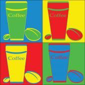 Attractive pop art: coffee — Stock Vector