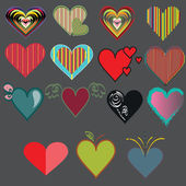 Wonderful vector hearts — Stock Vector