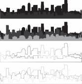 City silhouette 11 — Stock Vector