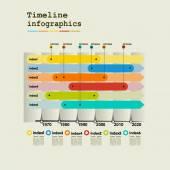 Timeline Infographic — Vecteur