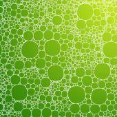 Fond transparent avec des bulles de mousse — Vecteur