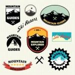 Ski Resort logo and icon collection. — Stock Vector #56796955