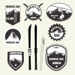 Set of nordic skiing design elements — Stock Vector #56796969