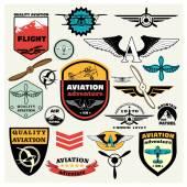 Mega Set of retro emblems, design elements — Stock Vector