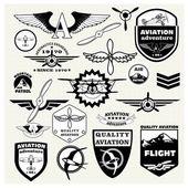 Monochrome Mega Set of retro emblems — Stock Vector