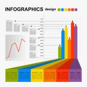 Conceptual blank - colorful infographics design — Vecteur
