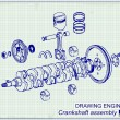Drawing old engine — Stock Vector #59366727