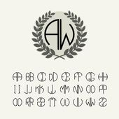 Set of template letters to create monogram — Stock Vector