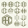 Set of template letters in hexagon — Stock Vector #63009715