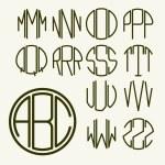 Letters for monogram, logo design — Stock Vector #69298063