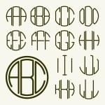 Letters for monogram, logo design — Stock Vector #69298067