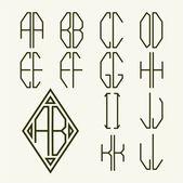 Letters for  monogram   design — Stock Vector