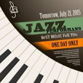 Jazz musician concert show poster — Stock Vector