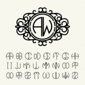 Set  template letters to create monograms — Stock Vector