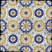 Muhteşem sorunsuz patchwork desen — Stok Vektör