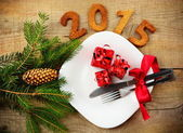 New year's Eve 2015 in red — Stock Photo
