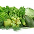 Set of green vegetables and fruits — Stock Photo #73293961