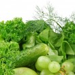 Set of green vegetables and fruits for detox — Stock Photo #73294059