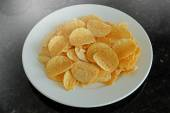 Potato chips in the dish — Stock Photo