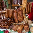 Assorted several kinds of sausages and smoked meats,  — Stock Photo #61514515
