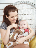 Young mother with her baby — Stock Photo