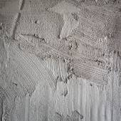 Plasterer concrete on wall of house construction  — Stock Photo