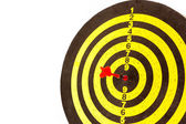 Darts arrows in the target — Stock Photo