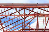 Roof steel install for house — Foto Stock