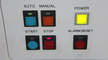 Warning light alarm working — Stockvideo