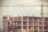 Vinç inşaat üzerinde çalışma — Stok fotoğraf