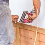 Carpenter makes new furniture — Stock Photo #59404731